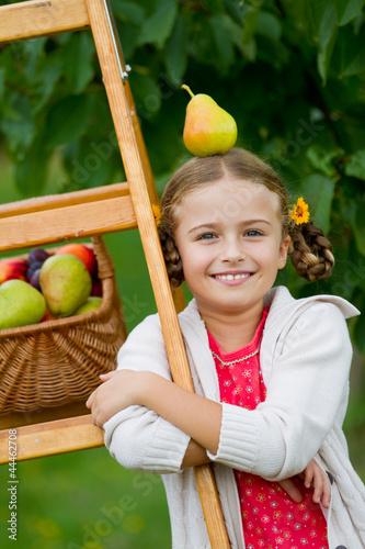 有关秋天的果园的画; 樟树简笔画;