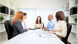 Female Client Meeting Advertising Agency Executives