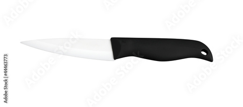 isolated ceramic knife on white background with clipping path