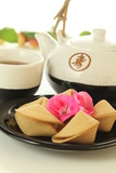 Chinese cookies and tea