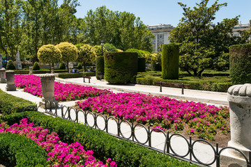Royal Gardens in Madrid Spain
