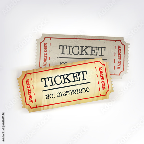Two tickets. Vector illustration, EPS10