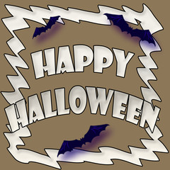 Halloween bats sign