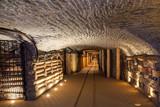 Fototapety Underground corridor in the Wieliczka Salt Mine, Poland.