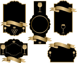 Etichetta Vino - nero e oro