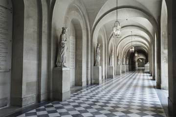 Interior hallway at the Palace