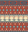 Seamless knitted pattern with anchor