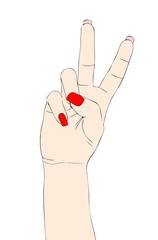 Segni e Simboli con le mani - Il Due