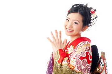 japanese kimono woman looking