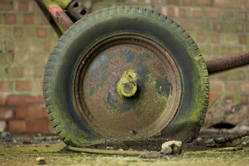 Old flat tyre