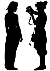 Women photorapher and model