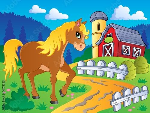 Fotobehang Pony Horse theme image 5