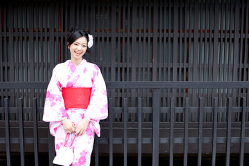 japanese kimono woman relaxing