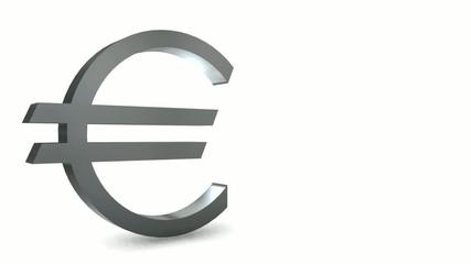 Silver euro symbol - Loop