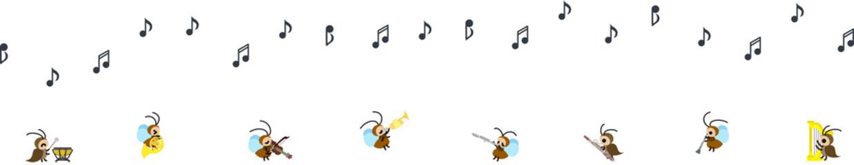 コオロギと鈴虫のコンサート