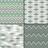 Set of seamless background patterns, argyle, chevron style poster