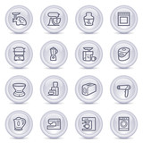 Contour icons on glossy buttons 23