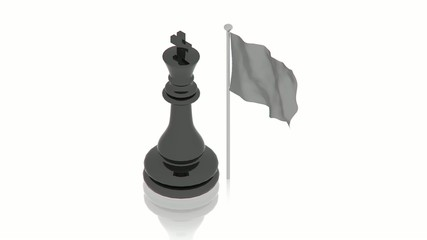 Black king with flag