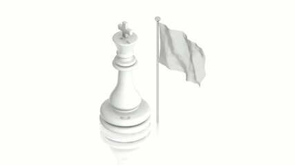 White king with flag