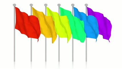 Many colorful flags