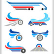 Abstract Transport Symbols and Icons