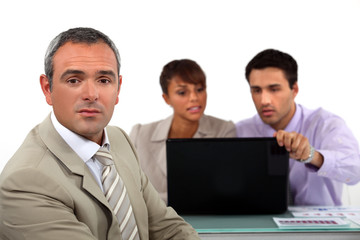Business people with a laptop