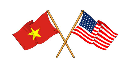 America and Vietnam alliance and friendship