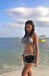 Hübsches Strandgirl