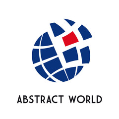 Logo dynamic world # Vector