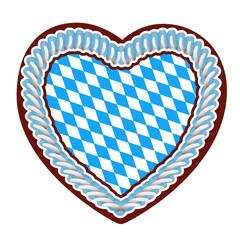 Lebkuchenherz mit bayrischer Flagge