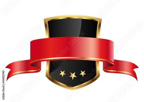 edles Wappen mit Banderole