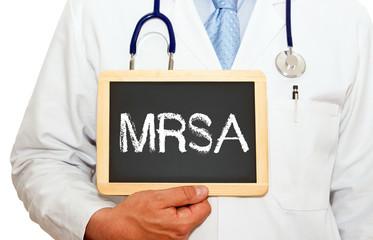 MRSA - Arzt mit Kreidetafel
