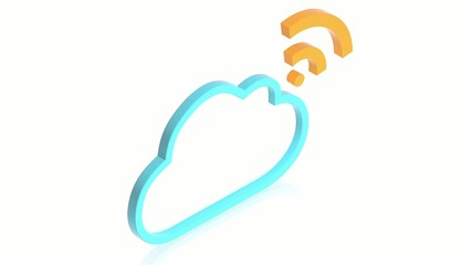 Cloud with wifi sign
