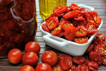 Pomodorini secchi sott'olio