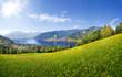 Leinwandbild Motiv Panorama view over Zell am See, Austria