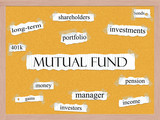 Mutual Fund Corkboard Word Concept poster