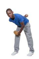 Teenage Baseball Player
