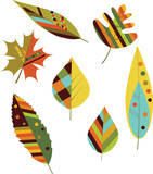 Seamless autumn leaves. Vector