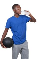 Teenager with Basketball