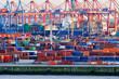Leinwandbild Motiv Containerterminal im Hamburger Hafen