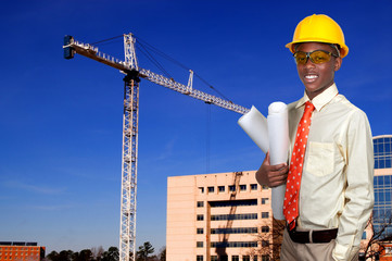Black Teenage Construction Worker