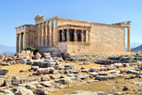 Erechtheion with Porch of the Caryatids, Athens, Greece poster