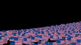 American Flags and Camera Fly Over, DOF