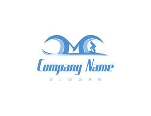 M surf logo
