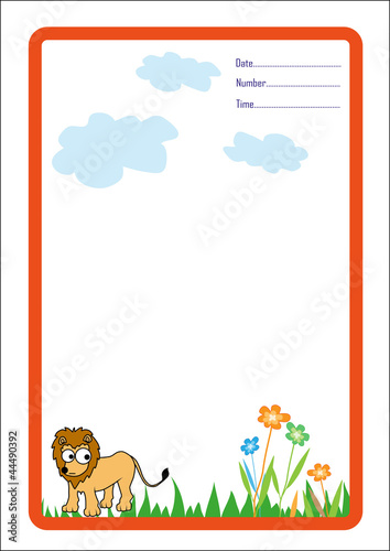 Background Lion cartoon vector