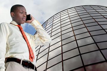 Teen Boy on the Phone