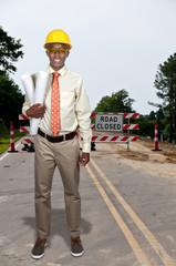 Black Teenage Construction Worker