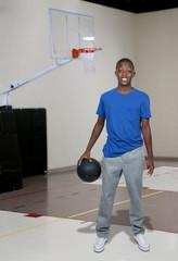 Black Teenage Basketball Player