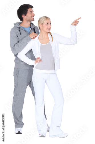 Couple exercising together