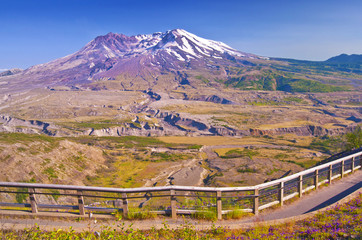 Beautiful view of mount saint helens